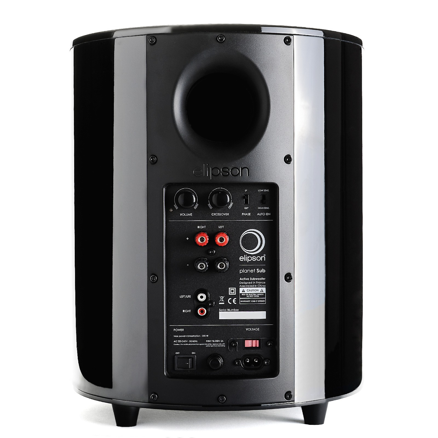 Subwoofer Planet Black Elipson Active Crossover Electronic Design