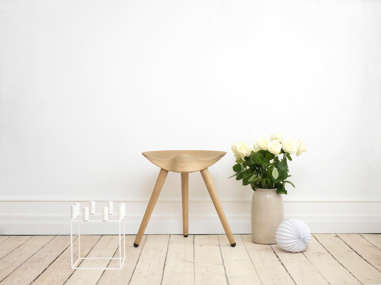 Ml 42 stool h 48 cm black oak by lassen
