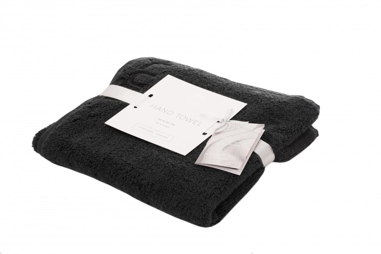3041adc6f8 Asciugamano da mani 50 x 80 cm 2 pezzi nero | Luin Living