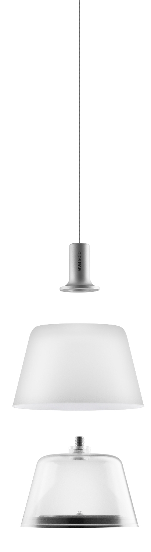 EVA SOLO Sunlight Lampadario Lampada solare vetro//alluminio ø13.2 cm gefrostet