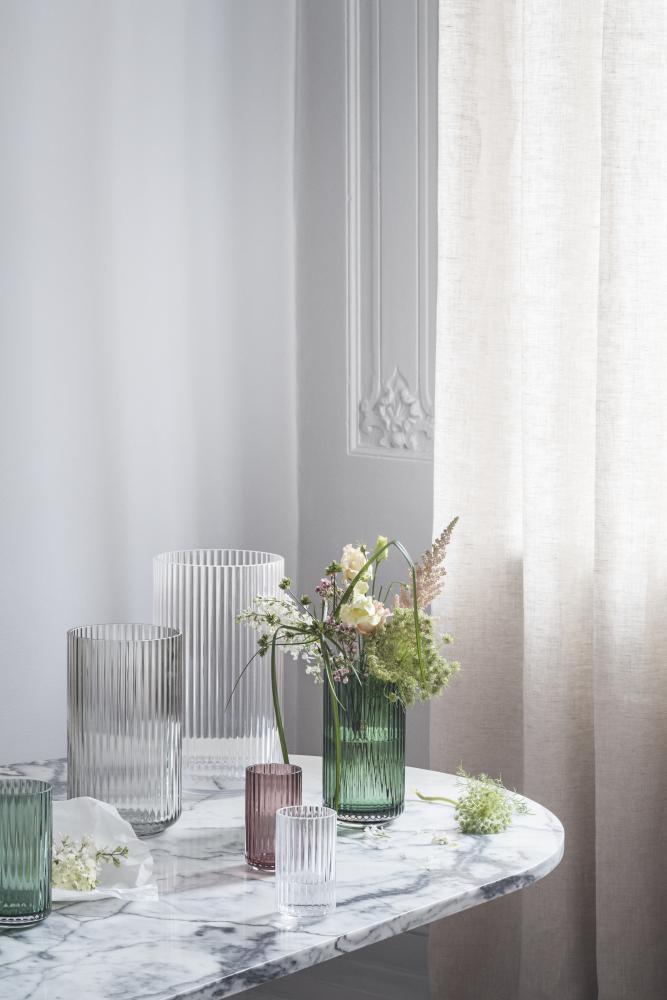 Alvorlig Lyngby vase glass H 20 cm clear | Lyngby Porcelæin AP24