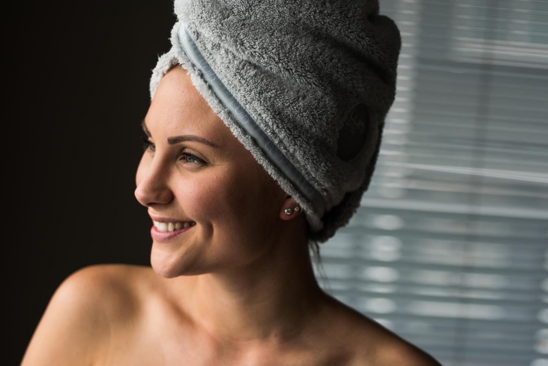 Asciugamano per capelli grigio perla   Luin Living