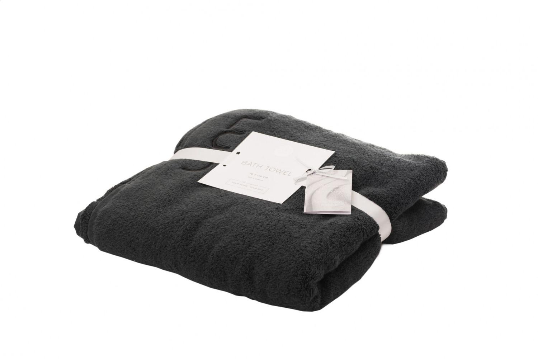 76f7309be6 Asciugamano da doccia 70 x 140 cm 2 pezzi nero | Luin Living