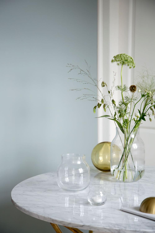 Alvorlig Omaggio Glass vase H 17 cm clear | Kähler Design CK-54