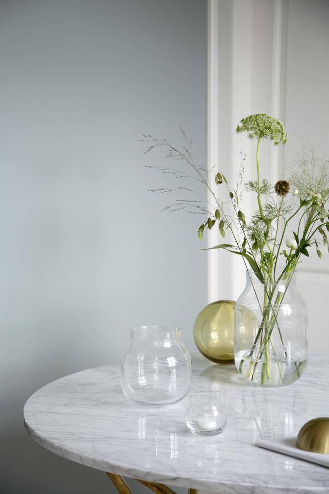 Omaggio Glass Vase H 14 Cm Clear Khler Design