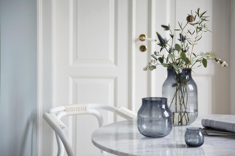 Omaggio Glass Vase H 14 Cm Blue Khler Design