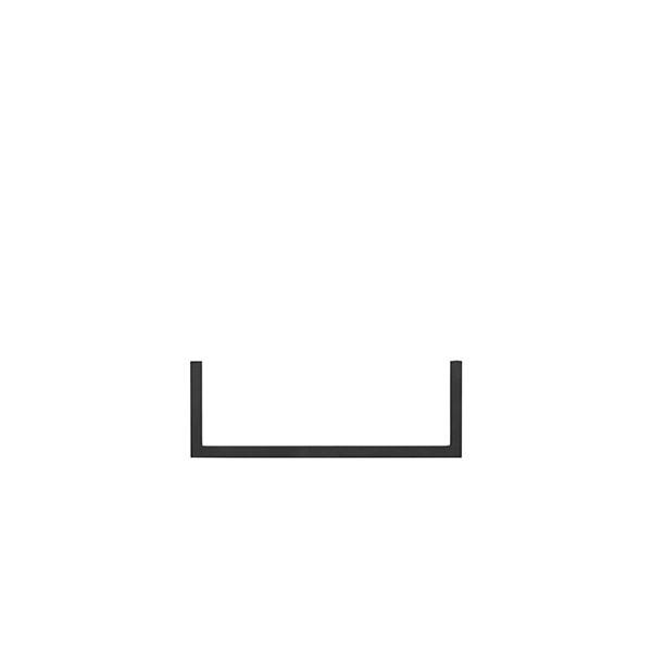 Clothes hangers Frame 35 Rail single black | By Lassen