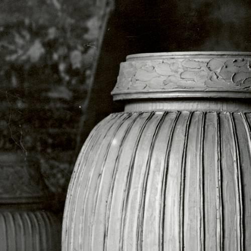 Vaso Hammershøi H 20 cm bianco   Kähler Design
