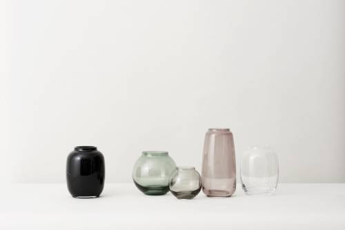 Form Vase H 10 Cm Smoked Glass Lyngby Porcelin