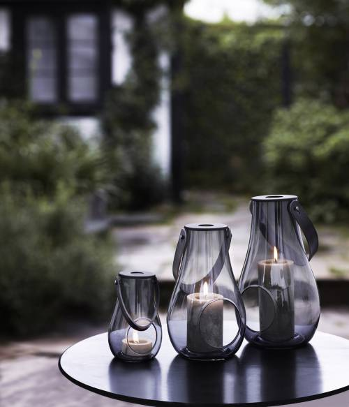Lanterna fumé Design with light H 25 cm | Holmegaard
