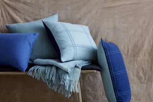 Fodera per cuscino Classic in alpaca 50 x 50 cm blu atlantic | Elvang