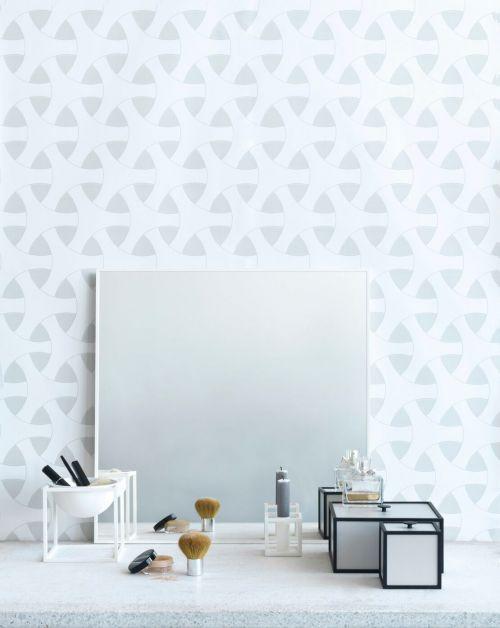 Specchio View 56 x 56 cm bianco | By Lassen