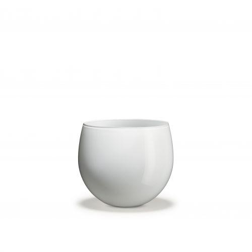 Vaso Cocoon H 14,5 cm bianco   Holmegaard