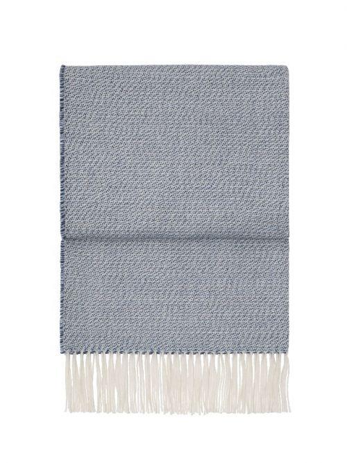 Plaid Breeze in baby alpaca blu scuro e bianco | Elvang