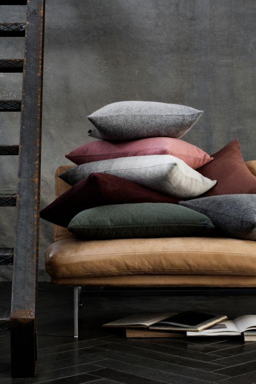 Fodera per cuscino Classic in alpaca 40 x 60 cm blu acciaio | Elvang