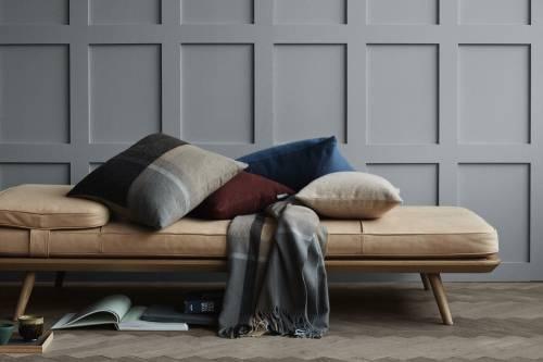 Fodera per cuscino Classic in alpaca 40 x 60 cm blu atlantico   Elvang